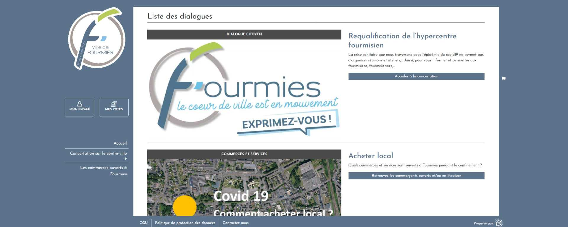 Images site Ville de Fourmies